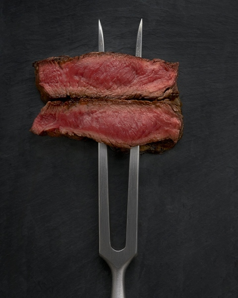 Seared Steak on a Fork